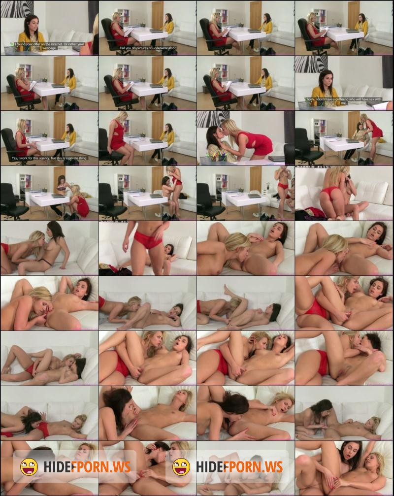 Femaleagent busty agent seduces shy beauty in steamy lesbian casting 3