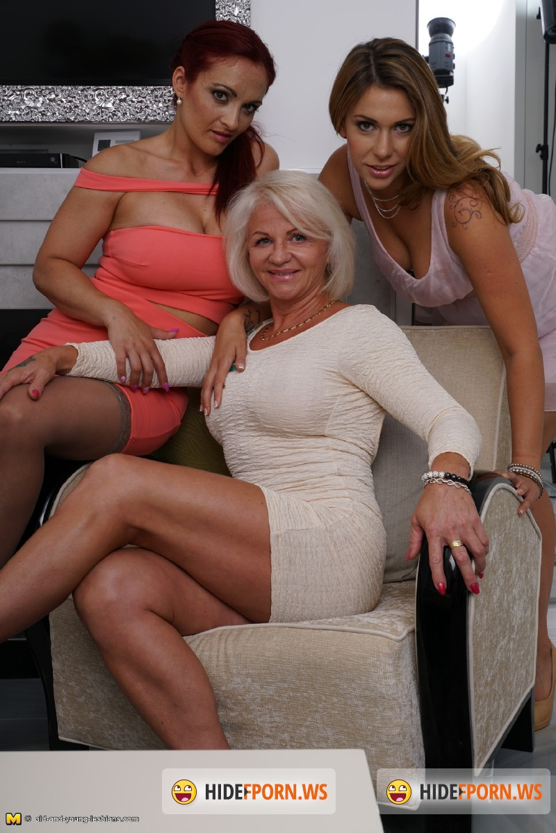 Old-and-Young-Lesbians.com/Mature.nl - Shery (47), Shanna (23), Rosella (38) - 3 old and young lesbians playing with eachother [SD 540p]