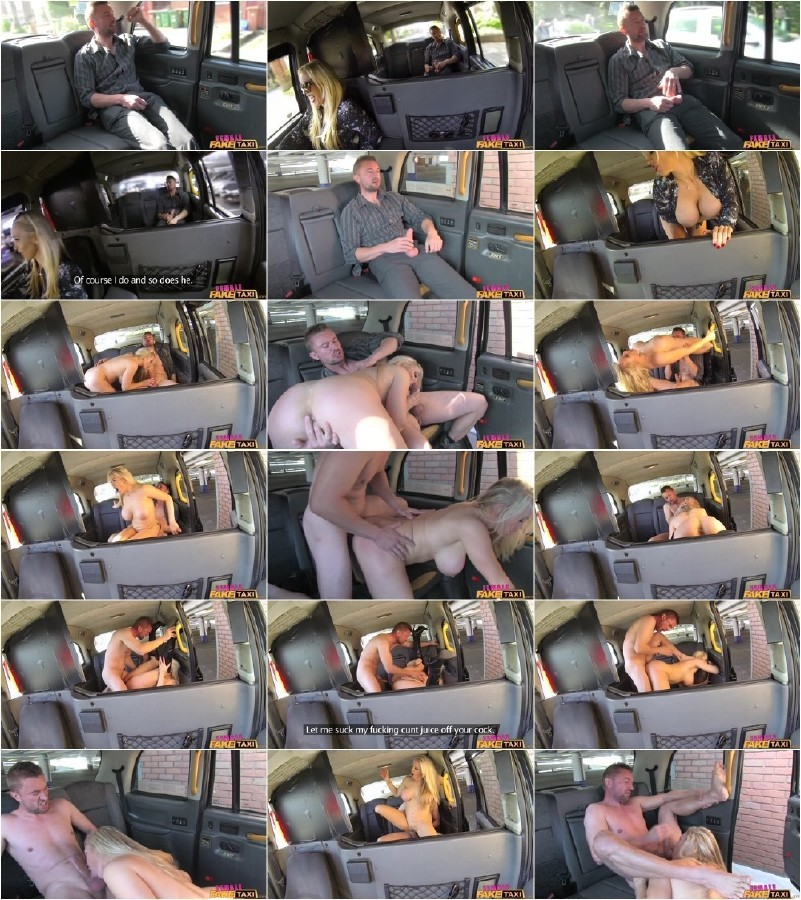 Femalefaketaxi busty driver swallows actor039s cum