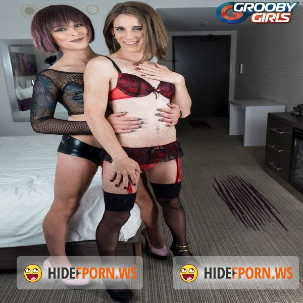 GroobyGirls - Aubrie Scarlett, Jenny Crystal - Cumshot Monday! [SD 480p]