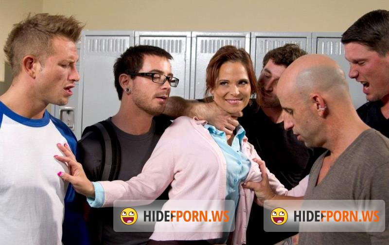 HardcoreGangBang.com/Kink.com - Syren de Mer - Hot MILF Teacher with Giant Tits Gangbanged by Students! Double Anal! [SD 540p]
