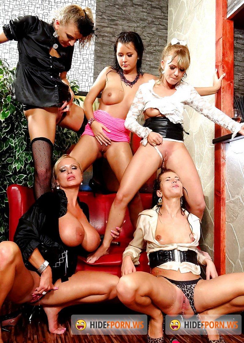 Lesbian orgy piss