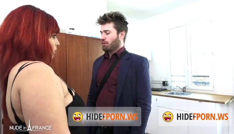 NudeInFrance.com - Zora - An angry bbw girlfirend punishes her boyfriend for having failed his job interview and he gets spanked and submitted to all her desires [SD 480p]