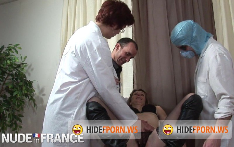 NudeInFrance.com - Gwenola, Mathilde - Mathilde, mature squirt woman, is dilated holes at the gynecologist [SD 406p]