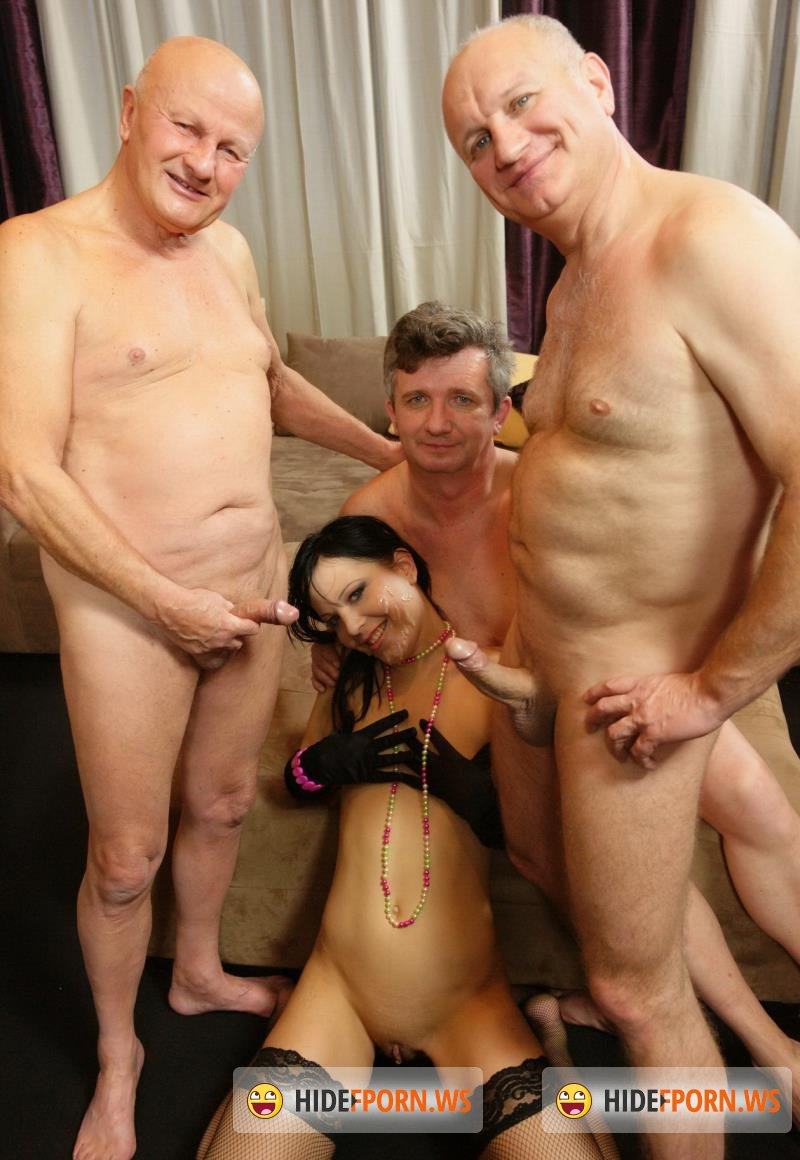 Oldandyounggangbang.com - Naida - Three Dirty Old Men Take On A Hot Young Babe [HD 720p]