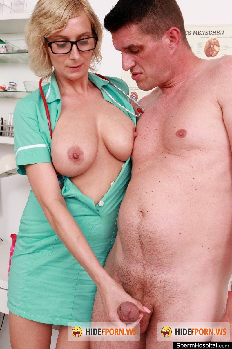 SpermHospital.com - Christa C - Big tits Euro Milf doctor Christa giving a blowjob  [SD 360p]