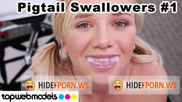 TopWebModels.com - Heather Lee - Pigtail Swallowers Compilation 1 [FullHD 1080p]